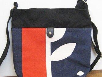 帆布ショルダーバッグ(アリタマサフミ・カゲツ赤)の画像