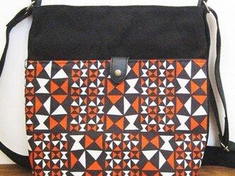 帆布ショルダーバッグ(アリタマサフミ・オノミチ赤)の画像