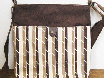 帆布ショルダーバッグ(アリタマサフミ・トリコ茶)の画像