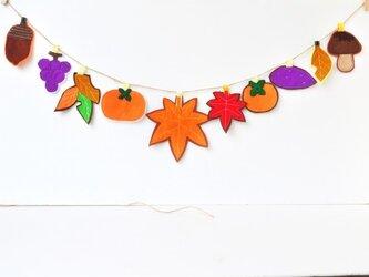 ※受注製作★大き目サイズ紅葉と秋の美味しいガーランドの画像