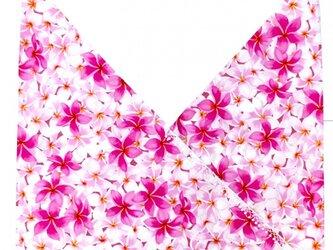 ハワイアンファブリック あづま袋 プリメリア柄 ピンク mha-142s42の画像