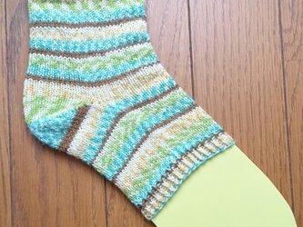 手編み かかとソックスの画像