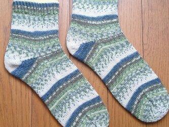 手編み靴下 opal 気仙沼 森の画像