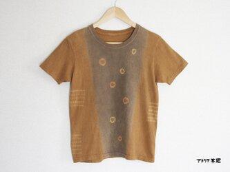 天然土顔料絞り染Tシャツ<ドット> レディースMの画像