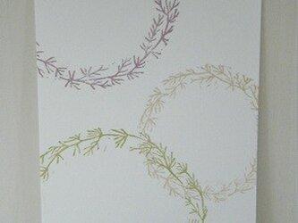 葉書〈水草リース-3〉の画像