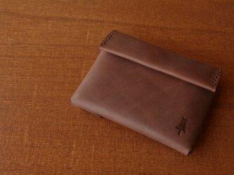 【受注生産】compact wallet/antique brownの画像