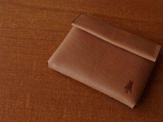 【受注生産】compact wallet/brownの画像