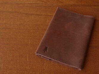 【受注生産】マットな質感のブックカバー(文庫サイズ)アンティークブラウンの画像