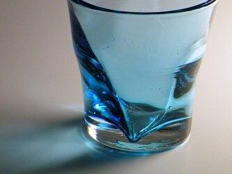 ラインぐい飲み(ターコイズブルー)の画像