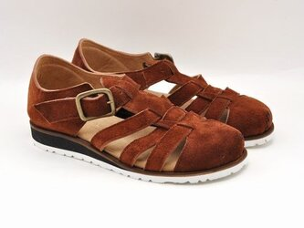 #Tokuyama Shoes:『plie mesh-shoes』camel suede leatherの画像