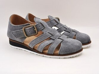 #Tokuyama Shoes:『plie mesh-shoes』gray suede leatherの画像