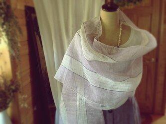 手織り リトアニアリネン糸 バイオレットの画像