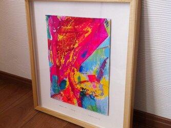 """堂本清文作 絵画 psychedelic ART """"pop sing""""の画像"""