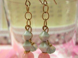 pink quartz x vintage beadsの画像