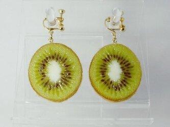 リアルなフルーツイヤリング キウイ両面中の画像