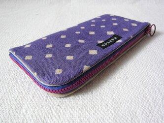 型染め 長財布「ダイヤドット」の画像