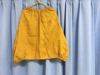 【即日発送】バルーンスカート★マスタードM★リネン100の画像