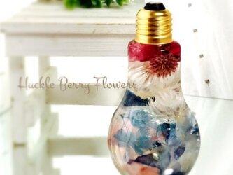 フラワーボトル ハーバリウム ブルーピンクの画像