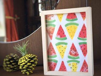 【monokli.summer】スイカとパイナップルの2wayアートフレーム〜の画像