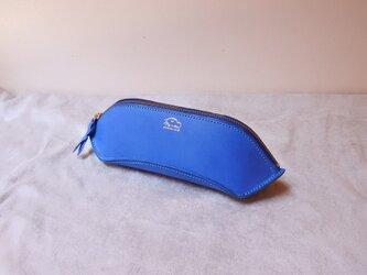 la culla  綺麗な色でコロンと可愛く大容量なペンケース ブルーの画像