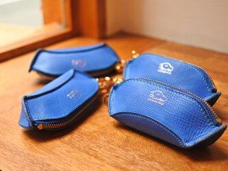 la culla  綺麗なブルーのキーケース&小銭入れの画像