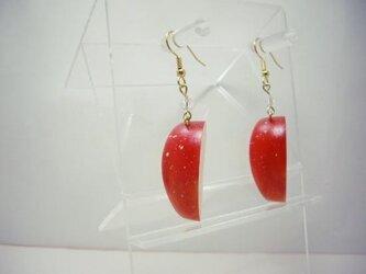 リアルなフルーツピアス りんご の画像