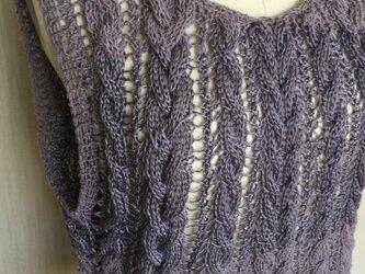 ラミー×シルク縄編みプルオーバーの画像
