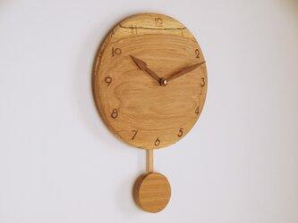 木製 振り子時計 楢材5の画像