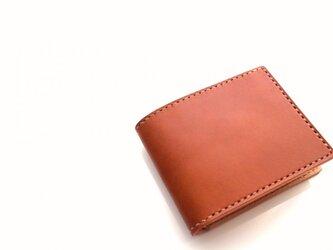 【受注生産品】二つ折り財布 ~栃木アニリンキャメル×栃木サドル~の画像