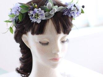 ライラックの花冠 ライトブルー ナチュラルシリーズの画像