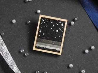 星空のブローチ <Black>の画像