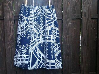 浴衣地リメイク、ポケット付スカートの画像