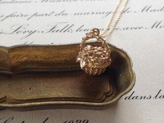 花かごのネックレス : gold(K18GP)の画像