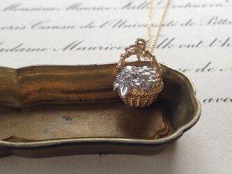 花かごのネックレス : gold×silver(K18GP)の画像