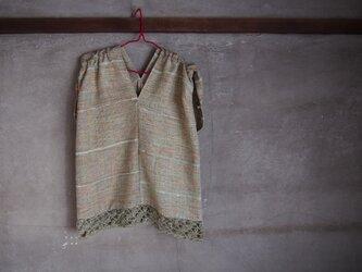 手織り/cotton tops  編みで裾で (+orimi)の画像