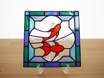 ステンドグラス ミニパネル 金魚 (ii) 15cmの画像