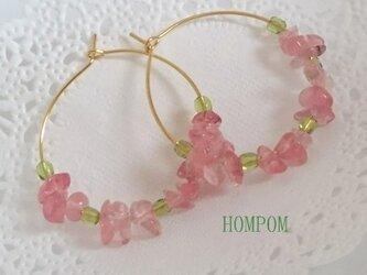 春 ローズガーデンピアス ホムポムの画像