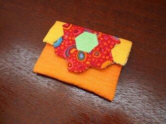 ヘキサゴンの名刺入れ オレンジグラデーションの画像