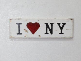 木製サインボード ニューヨーク ステンドグラスの画像