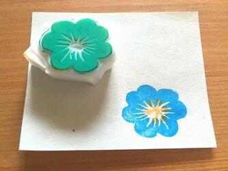 お花の消しゴムはんこ④の画像
