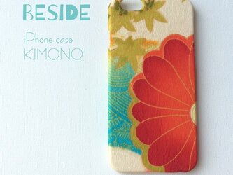 【 KIMONO 】希少一点物☆アンティーク着物iPhone6/6sケース(半菊)の画像
