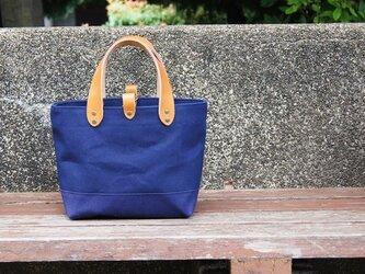 倉敷帆布のトートバッグ〜ネイビーの画像