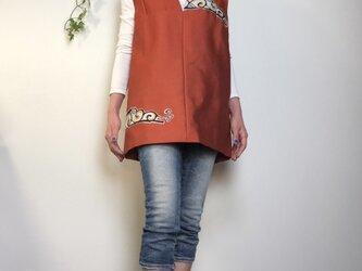 着物リメイク 正絹 チュニックの画像