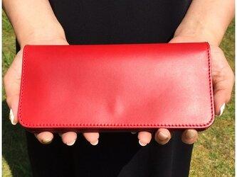 *イタリアンレザーブッテーロの2つ折りロングウォレット 長財布 フルオーダーの画像