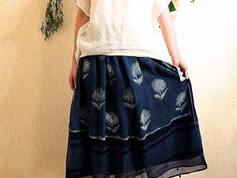 ツォモリリ生地使用 ギャザースカート&ストールの画像