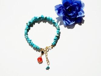 貝殻&星&ターコイズ ブレスレット Shell&Star&Turquoise amulet bracelet B0016の画像