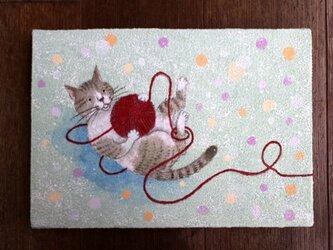 絵画「毛糸遊び」の画像