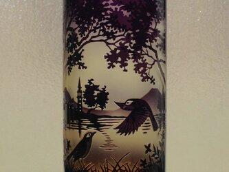 湖畔文筒型花瓶の画像