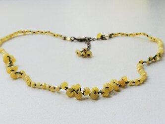 ミモザのネックレスの画像