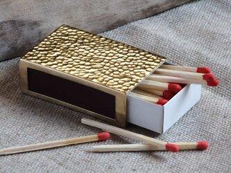 ツチメのマッチ箱カバー(真鍮)の画像